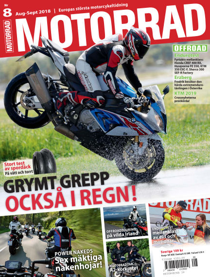 "Motorrad Sweden (Nya utgåvor publiceras under ""Bike Powered by Motorrad"") July 24, 2018 00:00"