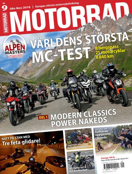 """Motorrad Sweden (Nya utgåvor publiceras under """"Bike Powered by Motorrad"""") September 25, 2018 00:00"""