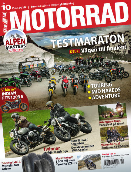 "Motorrad Sweden (Nya utgåvor publiceras under ""Bike Powered by Motorrad"") November 13, 2018 00:00"