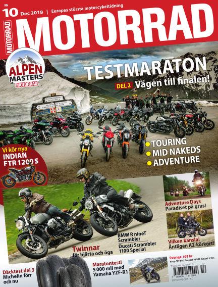 """Motorrad Sweden (Nya utgåvor publiceras under """"Bike Powered by Motorrad"""") November 13, 2018 00:00"""