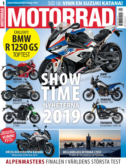 """Motorrad Sweden (Nya utgåvor publiceras under """"Bike Powered by Motorrad"""") December 11, 2018 00:00"""
