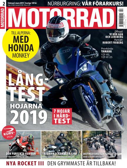 """Motorrad Sweden (Nya utgåvor publiceras under """"Bike Powered by Motorrad"""") February 14, 2019 00:00"""