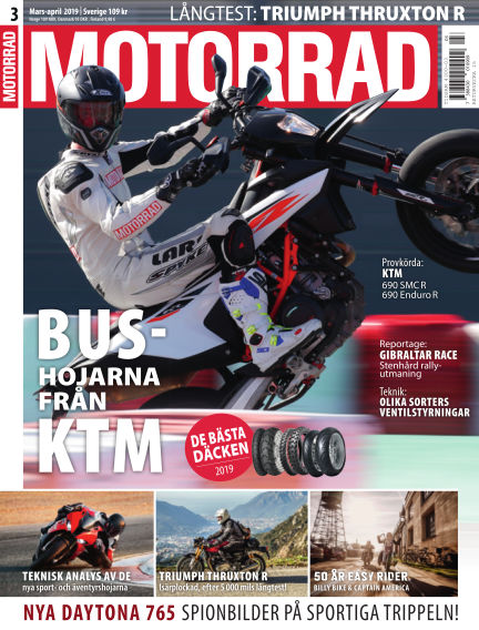 """Motorrad Sweden (Nya utgåvor publiceras under """"Bike Powered by Motorrad"""") March 14, 2019 00:00"""