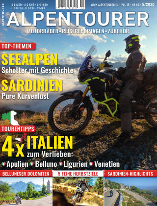 ALPENTOURER – Motorrad-Reisen in Europa 05-2020