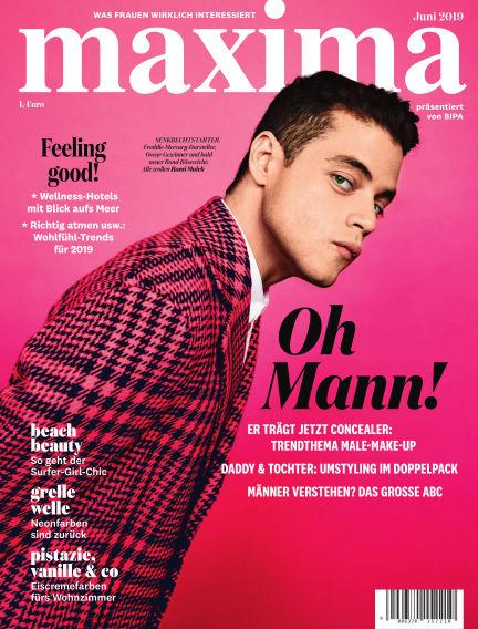 maxima May 29, 2019 00:00