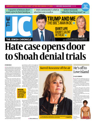 The Jewish Chronicle 1st June 2018