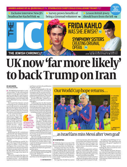 The Jewish Chronicle June 08, 2018 00:00