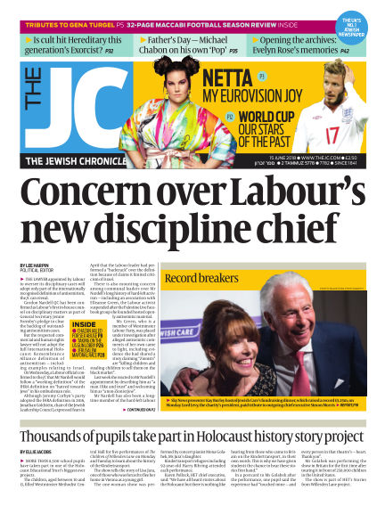 The Jewish Chronicle June 15, 2018 00:00