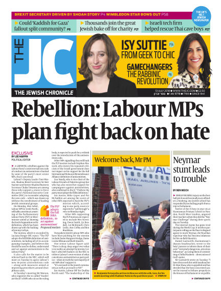 The Jewish Chronicle July 13, 2018 00:00
