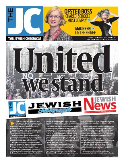The Jewish Chronicle July 27, 2018 00:00