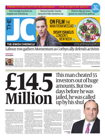 The Jewish Chronicle August 03, 2018 00:00