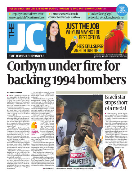 The Jewish Chronicle August 17, 2018 00:00
