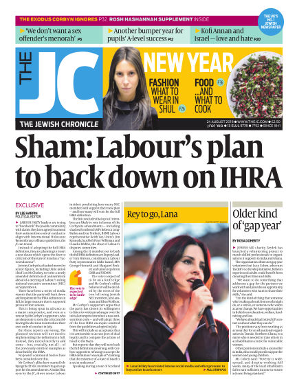 The Jewish Chronicle August 24, 2018 00:00