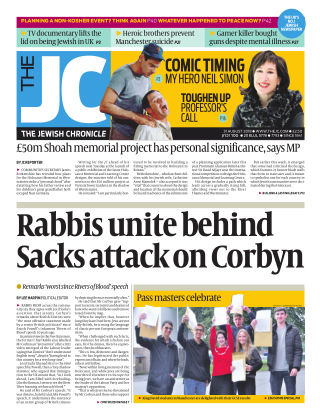 The Jewish Chronicle 31ST August 2018