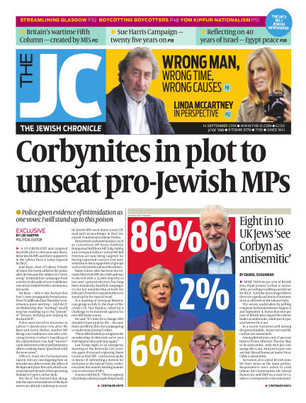 The Jewish Chronicle September 14, 2018 00:00