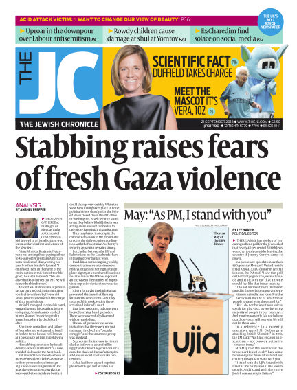 The Jewish Chronicle September 21, 2018 00:00