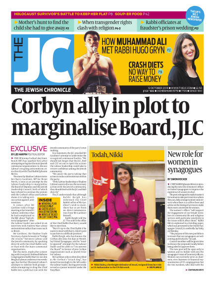 The Jewish Chronicle October 12, 2018 00:00
