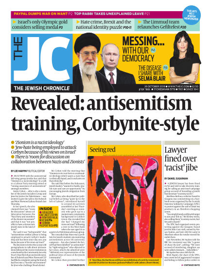 The Jewish Chronicle October 26, 2018 00:00