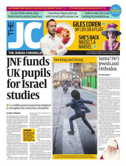 The Jewish Chronicle December 14, 2018 00:00