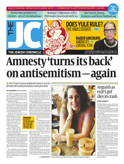 The Jewish Chronicle December 21, 2018 00:00