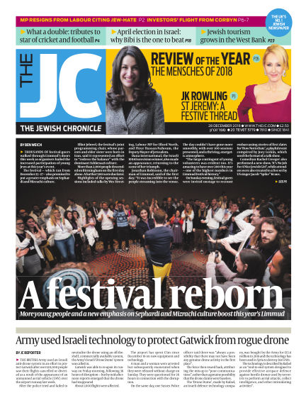 The Jewish Chronicle December 28, 2018 00:00