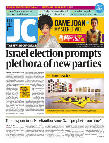 The Jewish Chronicle January 04, 2019 00:00