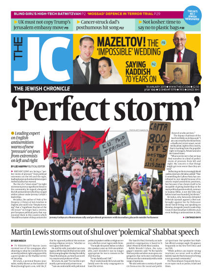 The Jewish Chronicle January 18, 2019 00:00