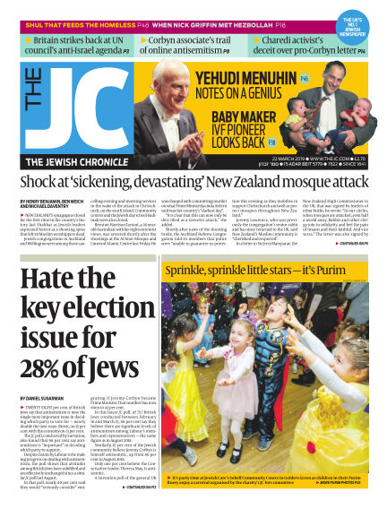The Jewish Chronicle March 22, 2019 00:00
