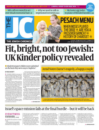 The Jewish Chronicle 19th April 2019