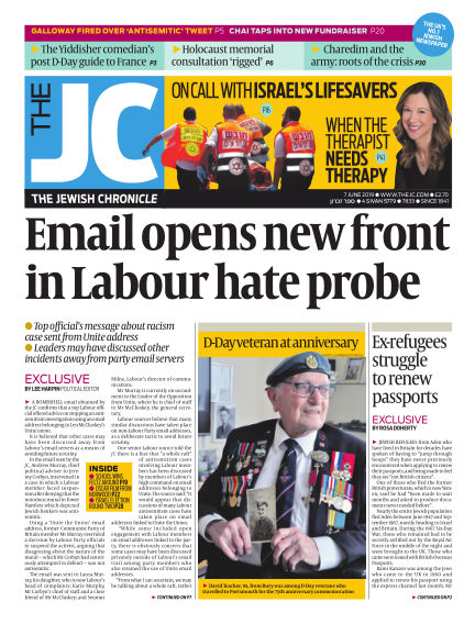 The Jewish Chronicle June 07, 2019 00:00