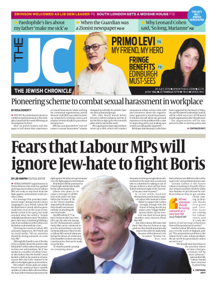 The Jewish Chronicle July 26, 2019 00:00