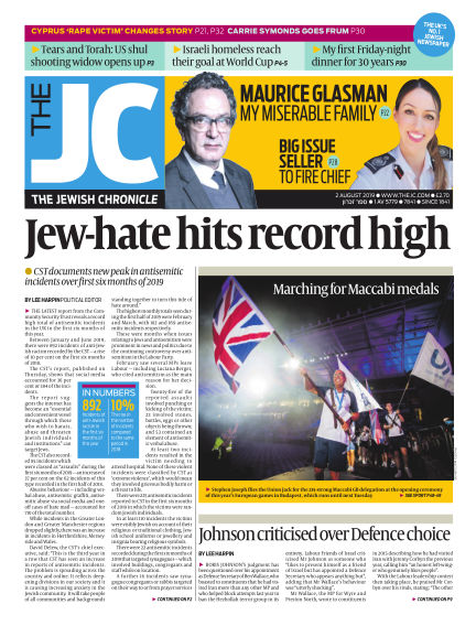 The Jewish Chronicle August 02, 2019 00:00