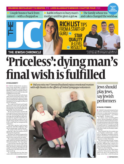 The Jewish Chronicle August 23, 2019 00:00