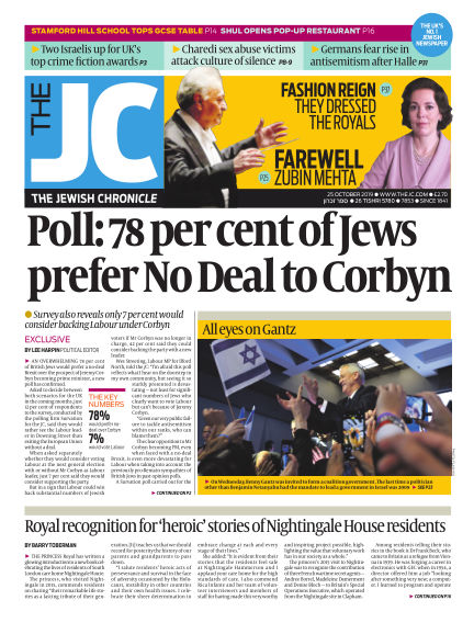 The Jewish Chronicle October 25, 2019 00:00