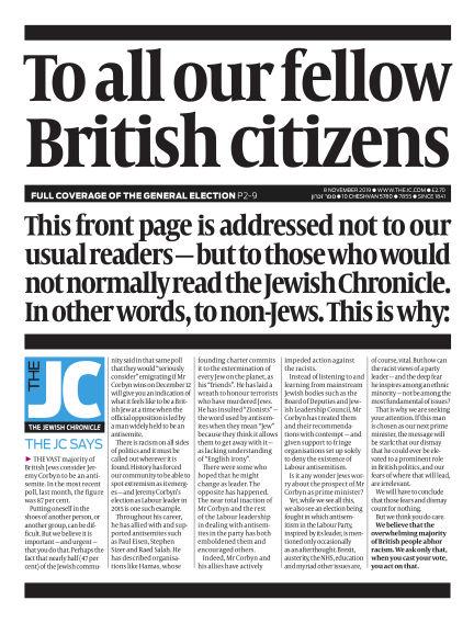 The Jewish Chronicle November 08, 2019 00:00