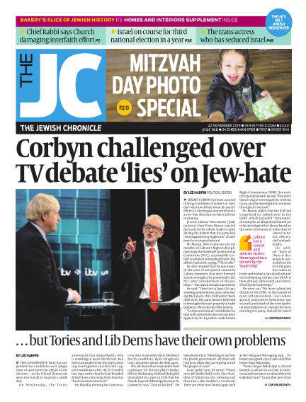 The Jewish Chronicle November 22, 2019 00:00