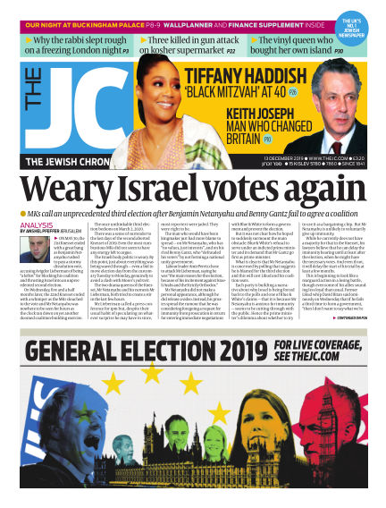 The Jewish Chronicle December 13, 2019 00:00