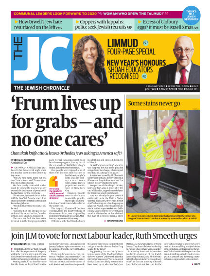 The Jewish Chronicle January 03, 2020 00:00