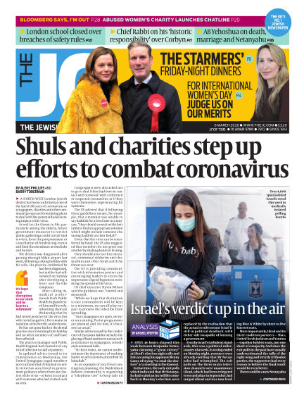 The Jewish Chronicle March 06, 2020 00:00
