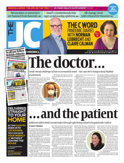 The Jewish Chronicle March 27, 2020 00:00