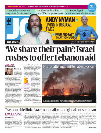 The Jewish Chronicle August 07, 2020 00:00
