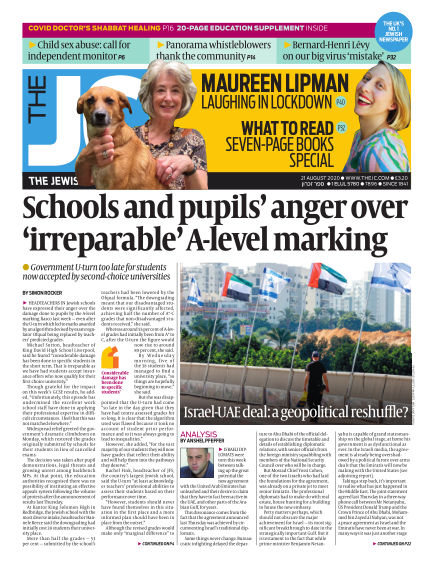 The Jewish Chronicle August 21, 2020 00:00