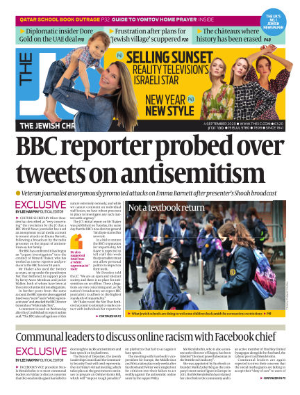 The Jewish Chronicle September 04, 2020 00:00