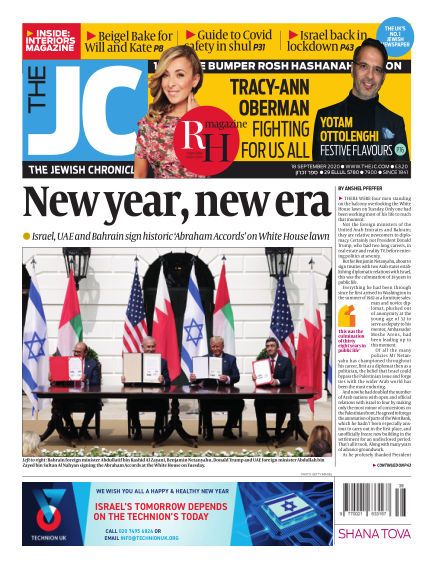 The Jewish Chronicle September 18, 2020 00:00