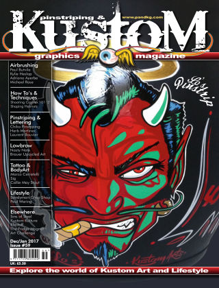 Pinstriping & Kustom Graphics Magazine 1st Dec 2016