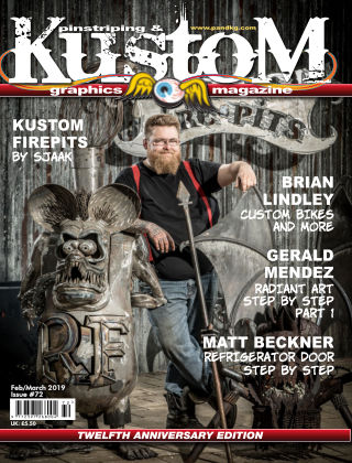 Pinstriping & Kustom Graphics Magazine 72 Feb/March 2019