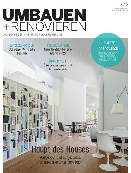 Umbauen + Renovieren (Schweiz) August 24, 2018 00:00