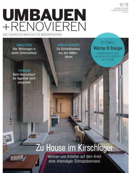 Umbauen + Renovieren (Schweiz) October 16, 2019 00:00