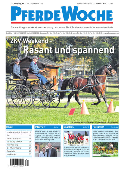 PferdeWoche October 17, 2018 00:00