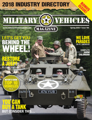 Military Vehicles Spring 2018
